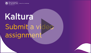 submit a video assignment