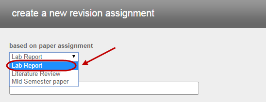 select existing assignment
