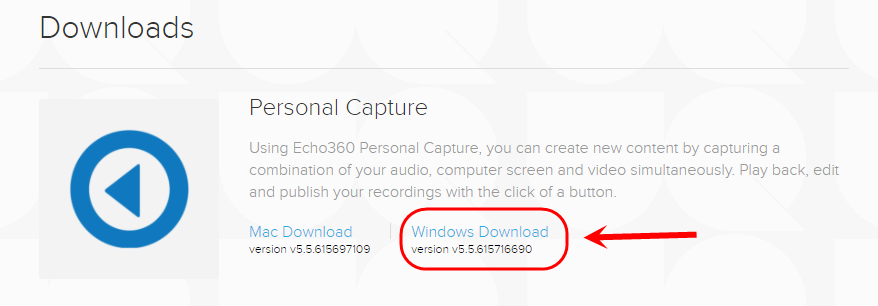 click on windows download button