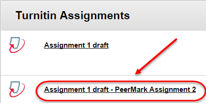 select turnitin assignment