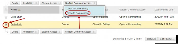 student comment access