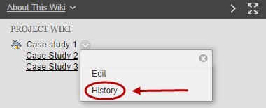 click on history from the drop down list