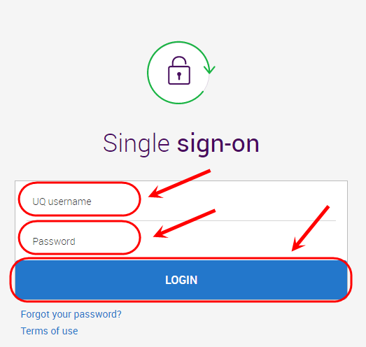 click on the login button