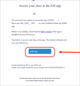 add class button in email