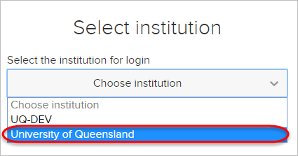 The UQ option in the dropdown is highlighted