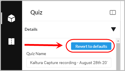 revert to defaults setting