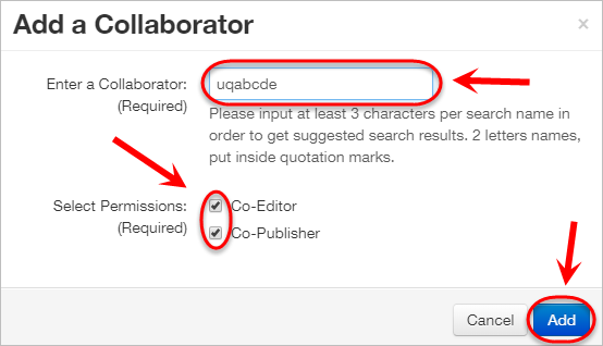 the text-field, checkboxes and add button are highlighted