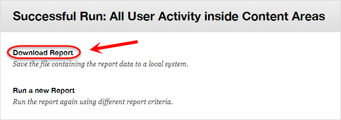 download report button is highlighted