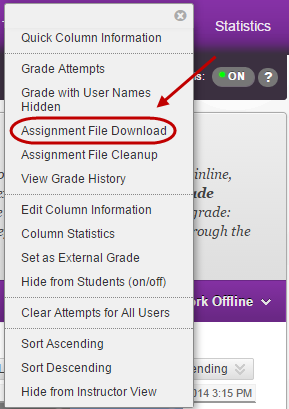 assignment file download button