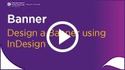 design a banner using indesign