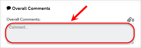 Overall comment text box circled