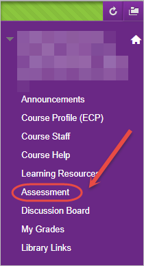 assessment tab highlghted