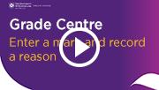 grade centre edit a mark and record a reason