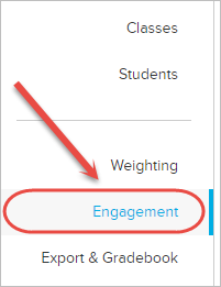 engagement from menu selected