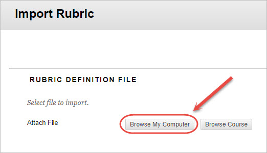 Import or Export a Blackboard Rubric - eLearning