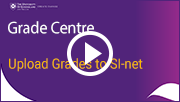 grade centre Upload Grades to SI-Net