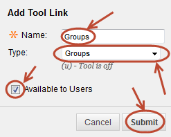 Add tool link settings