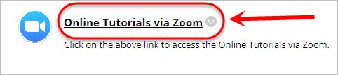 Zoom meeting area link