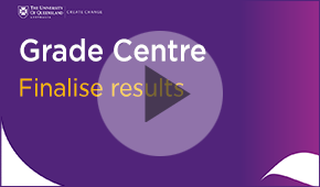 Grade Centre - Finalise Results