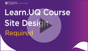 course site design required