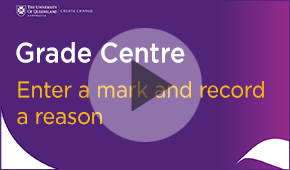 grade centre edit a mark and record a reason