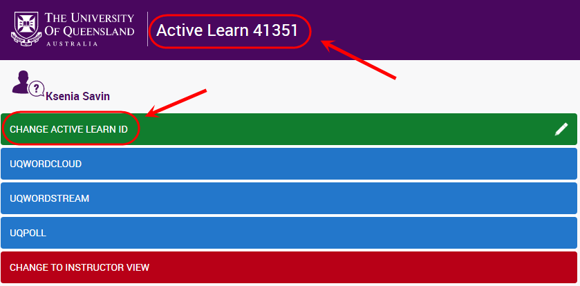 Change Active Learn ID
