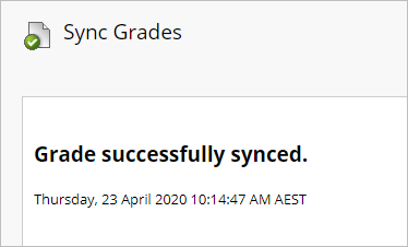 grades successfully synced