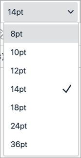 text size selection